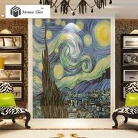 TST Mosaic Murals Van Gogh Oil Painting The Starry Night ...