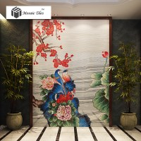 TST Mosaic Mural Nature Scenery Birds & Flowers Colorful ...