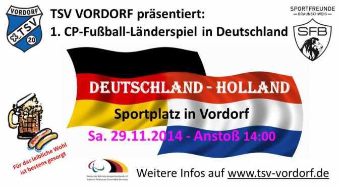 Was für eine Ehre!!! Deutsche CP-Fußball Nationalmannschaft spielt in Vordorf