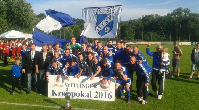 Noch einmal zum genießen… Kreispokalsieger TSV Vordorf!!!!