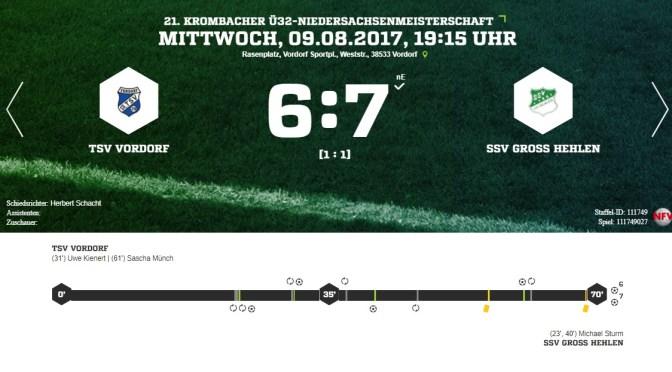 Bitteres Elfmeter-Aus im Niedersachsenpokal