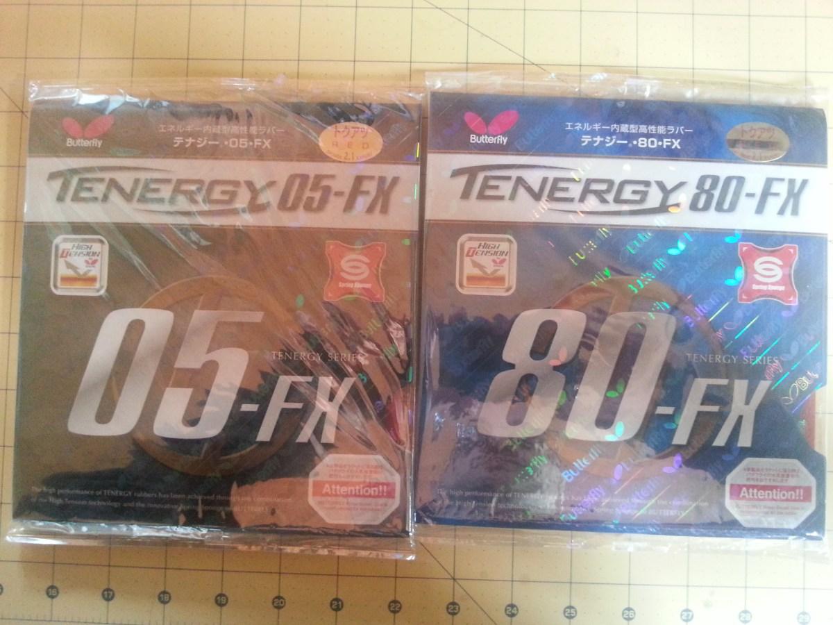 Butterfly Tenergy 80 FX vs. Butterfly Tenergy 05 FX - Ein Vergleich