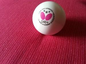 Butterfly G40+ Plastikball