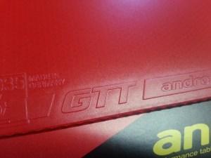 andro GTT 40 Obergummi
