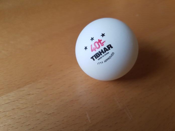 Tibhar SYNTT NG *** 40+ – Haltbarer Plastikball mit konstantem Ballabsprung