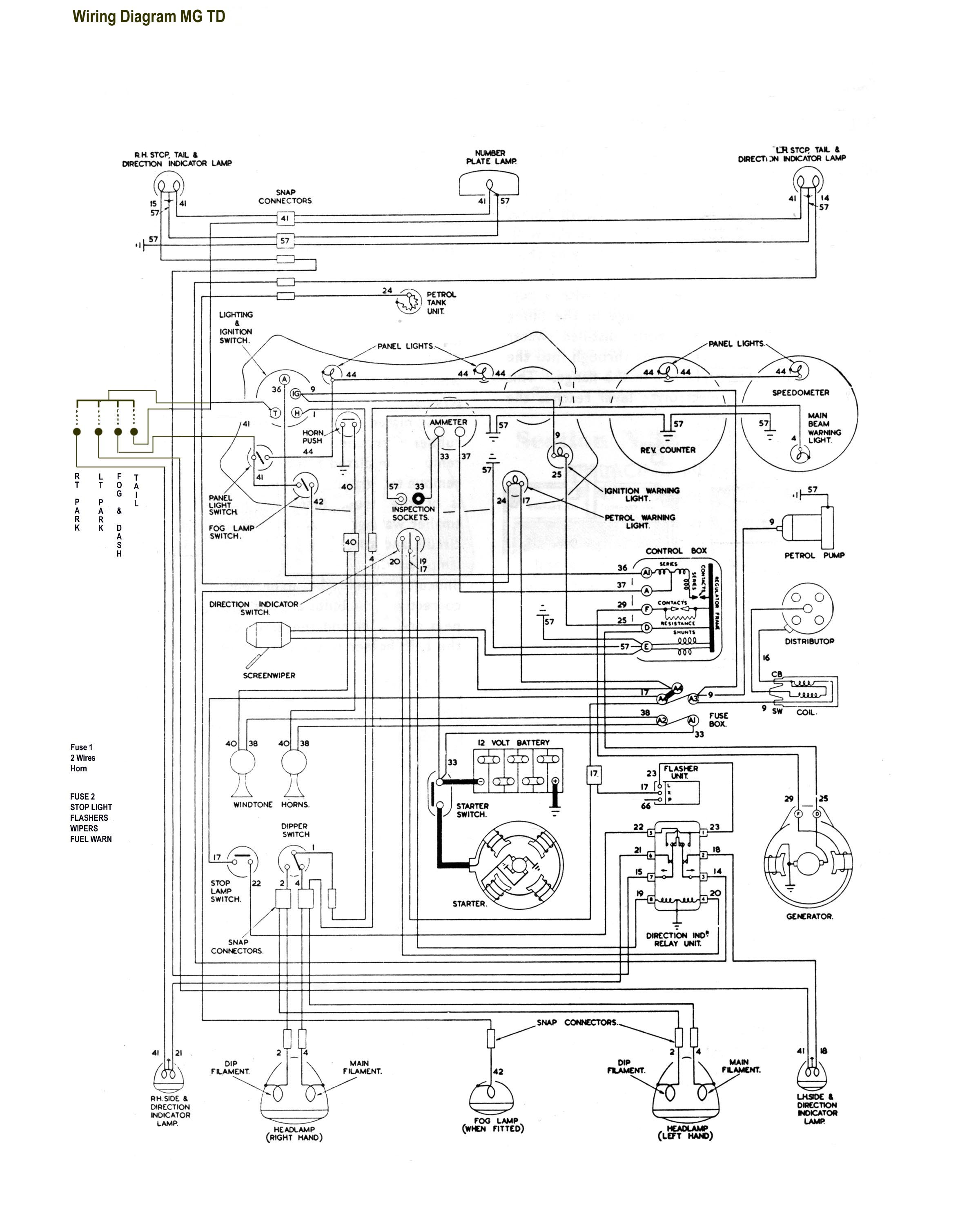 mg tf electrical wiring diagram 2001 dodge dakota 4 7 bentley diagrams td get free image about