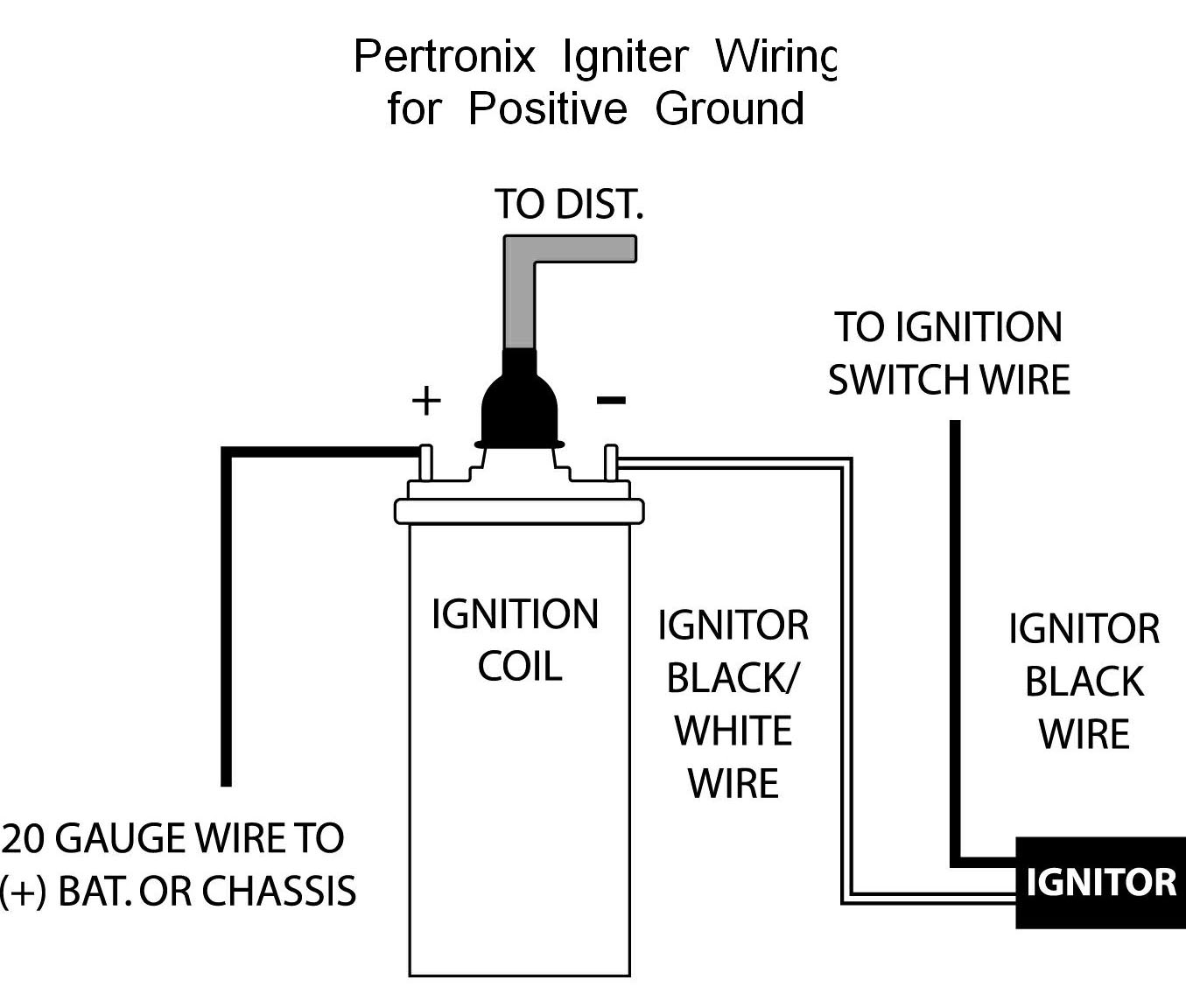 hight resolution of pertronix positive ground wiring wiring a coil ballast wiring a coil source wiring diagram ignition