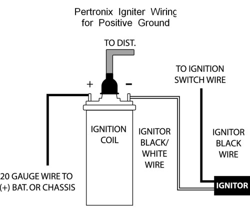 small resolution of pertronix positive ground wiring wiring a coil ballast wiring a coil source wiring diagram ignition