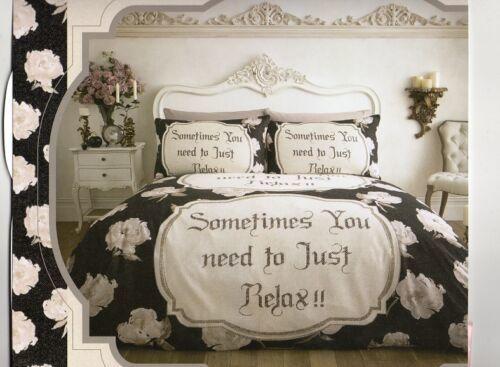 black cream king flannelette bedding duvet set with pair of pillow cases
