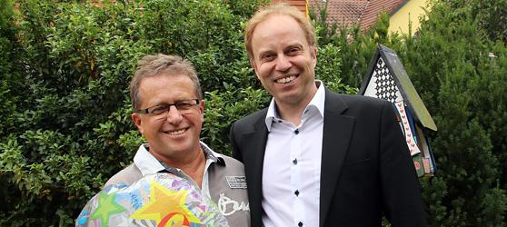 Hartmut Metz gratuliert zum 60. Geburtstag von Hartmut Großbaier