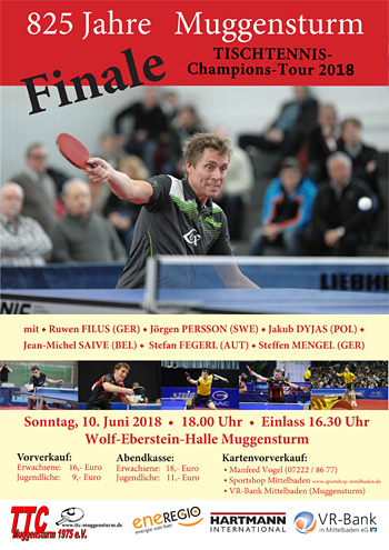 Am 10.06. Finale der Champions Tour in Muggensturm