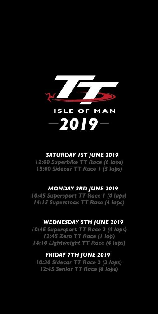 TT Week Race Days 2019