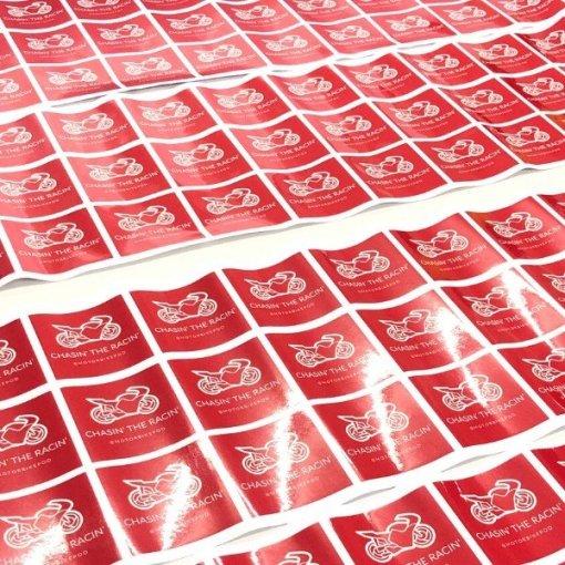 Chasin the Racin Stickers fresh off the printer