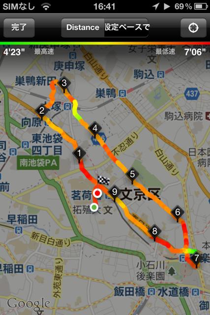 10kmコースと11kmコースの大いなる違い [カラダログ 2012/04/12]