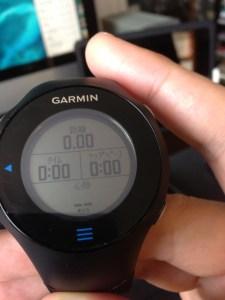 Garmin ForeAthlete 610 タッチスクリーン GPS トレーナーウォッチ — フルマラソンに持っていって本当に良かった!!