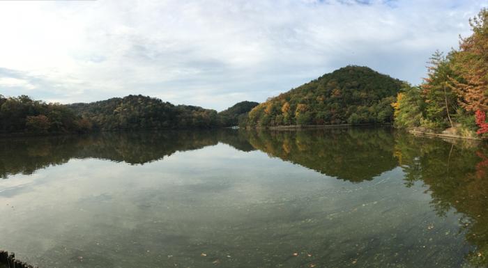 京都宝ヶ池 1kmラン&ウォーク!鏡のような水面に引き込まれる!! [2015年晩秋の旅 旅行記 その7]