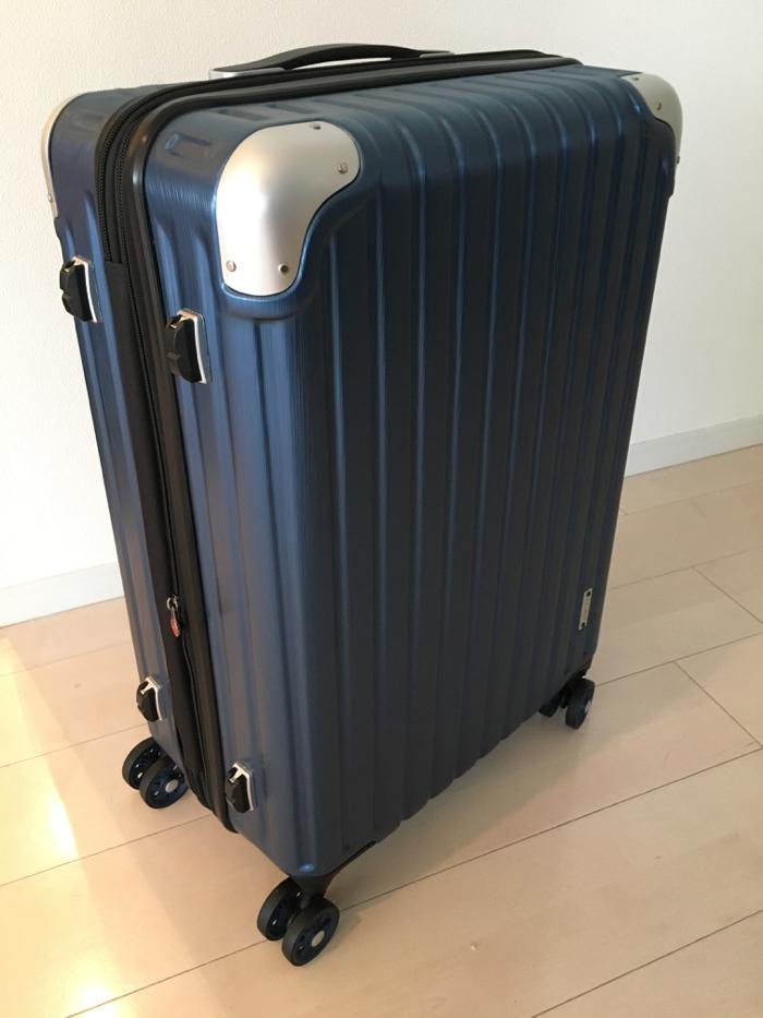 サクセス スーツケース 中型65cm ディープシーへアライン 〜 旅の荷物が増え続けるので宅急便用にハードタイプを購入!!