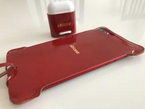 abicasePro iPhone7Plus sj カーマインレッドコードバン 〜 iPhone 7 Plus (PRODUCT) RED 用の真紅に輝くレザーケース!! [iPhone]