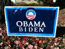 Obama Biden sign