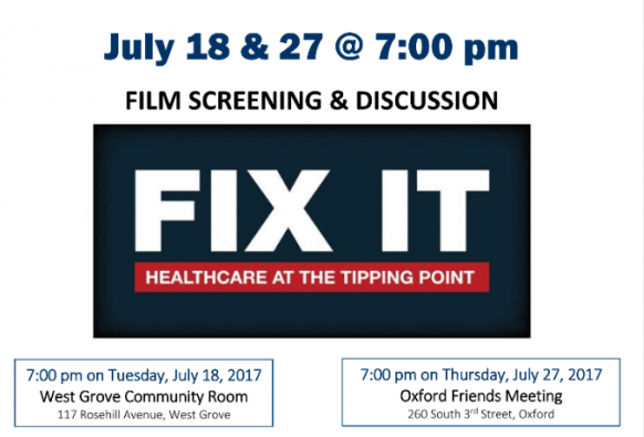 """Two Screening of """"Fix It"""" an informative film on healthcare in the USA"""