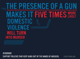 Presence of guns makes it 5 times as likely that domestic arguments become violent