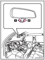 Toyota Tacoma Owners Manual: Anti-glare inside rear view