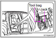 Toyota Tacoma Owners Manual: If you have a flat tire