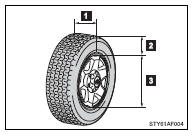 Toyota Tacoma Owners Manual: Tire information