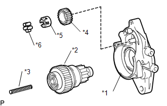 Toyota Tacoma 2015-2018 Service Manual: Disassembly