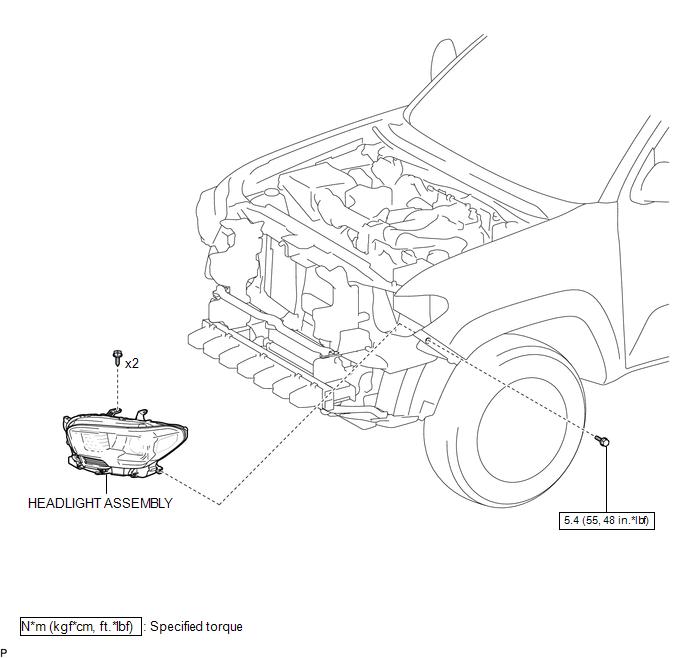 Toyota Tacoma 2015-2018 Service Manual: Components