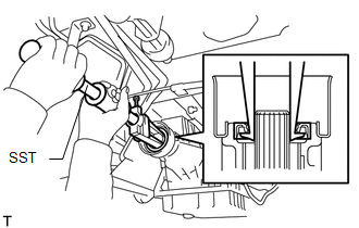 Toyota Tacoma 2015-2018 Service Manual: Extension Housing