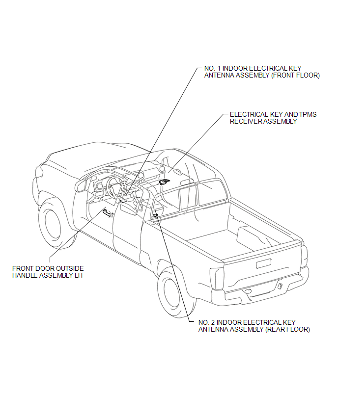 Toyota Tacoma 2015-2018 Service Manual: Parts Location