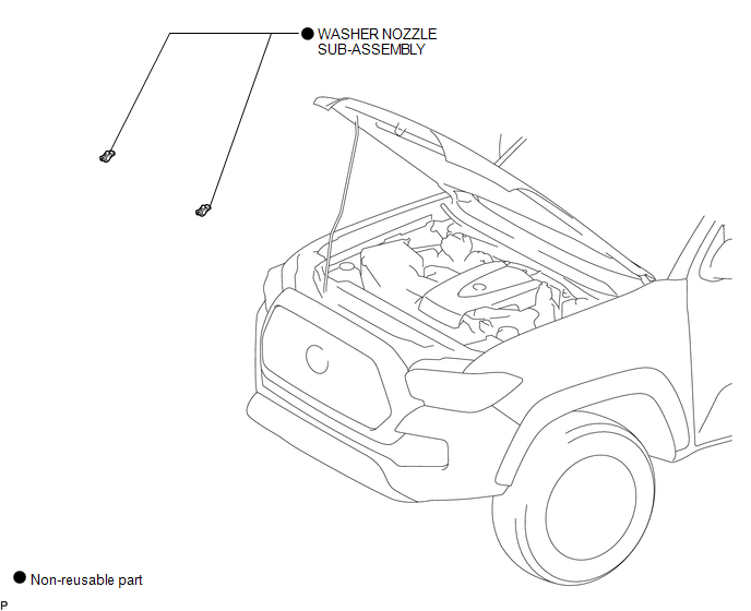Toyota Tacoma 2015-2018 Service Manual: Washer Nozzle