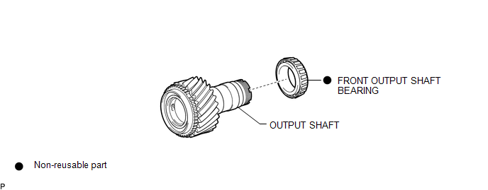 Toyota Tacoma 2015-2018 Service Manual: Output Shaft
