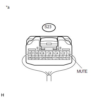 Toyota Tacoma 2015-2018 Service Manual: Mute Signal