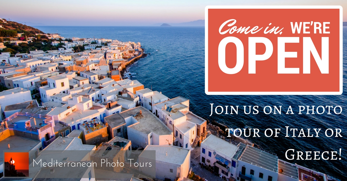 Photo Tours in Italy, Greece and the best locations of the Mediterranean