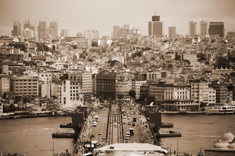 View to Galata, Istanbul, Turkey