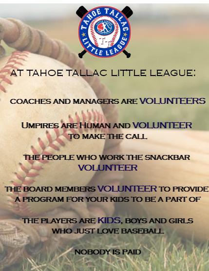 Volunteers – Tahoe Tallac Little League