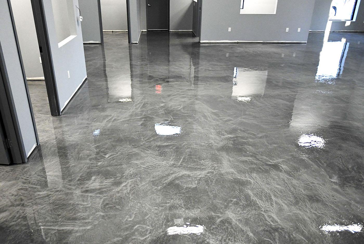Charcoal Metallic Epoxy Floors  TTM Finishes Inc