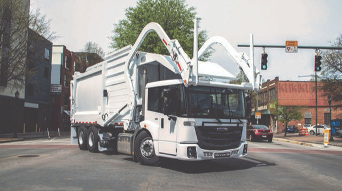 hight resolution of freightliner launches cabover refuse truck