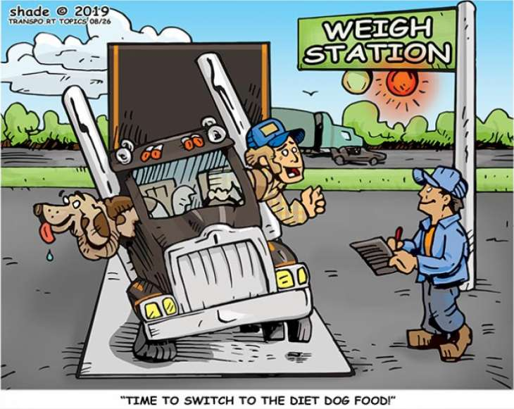trucking cartoons of the
