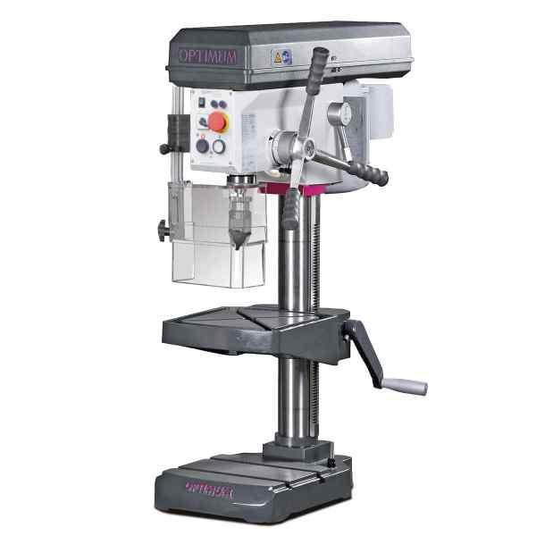 Tischbohrmaschine mit Keilriemenantrieb im Aktions-Set mit SchraubstockOPTIdrill B 24H (400 V) Aktions-Set