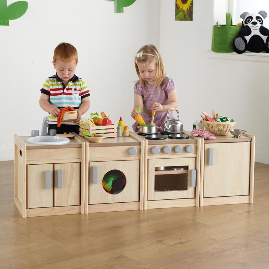 Buy Toddler Wooden Kitchen Units  TTS
