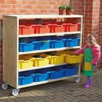 Buy Large Outdoor Wooden Mobile Shelving Unit   TTS