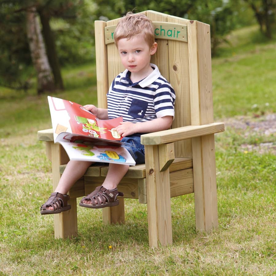 Buy Outdoor Wooden Childrens Reading Chair  TTS