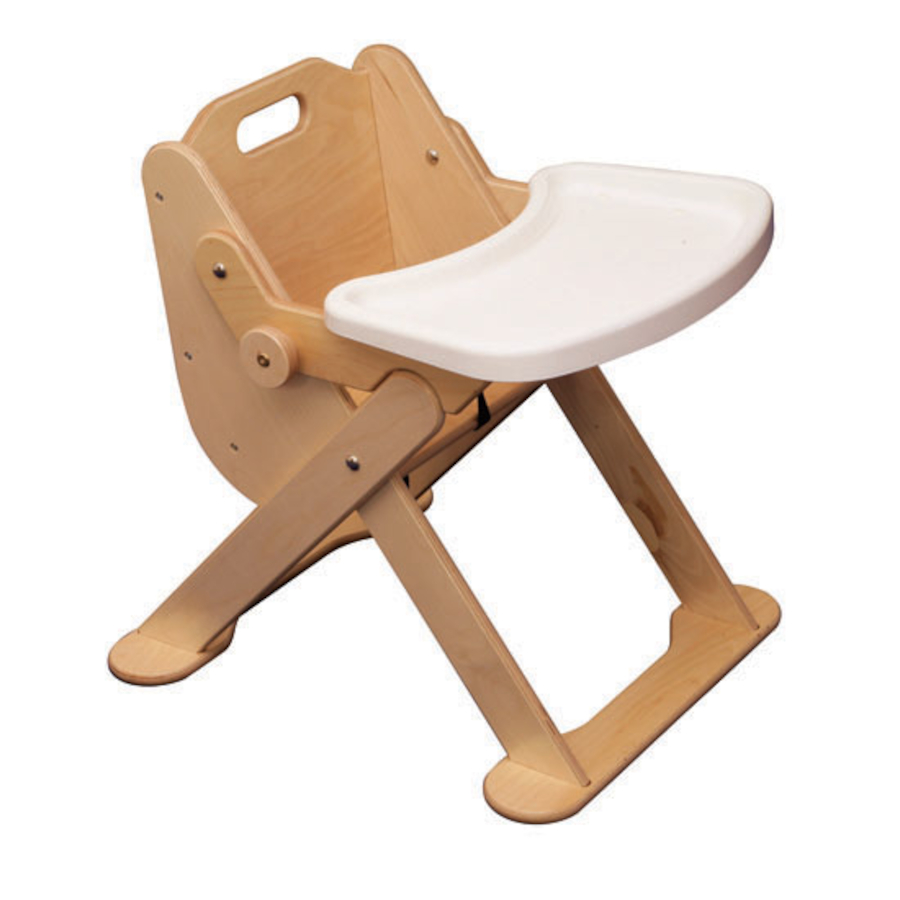 Buy Low Level Wooden Feeding Chair with Tray  TTS