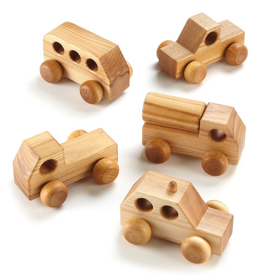 Buy Small World Mini Wooden Vehicles 5pk  TTS
