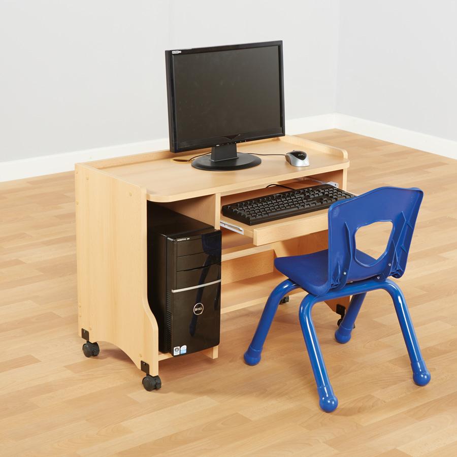 Buy Childs Beech Computer Desk H600mm  TTS