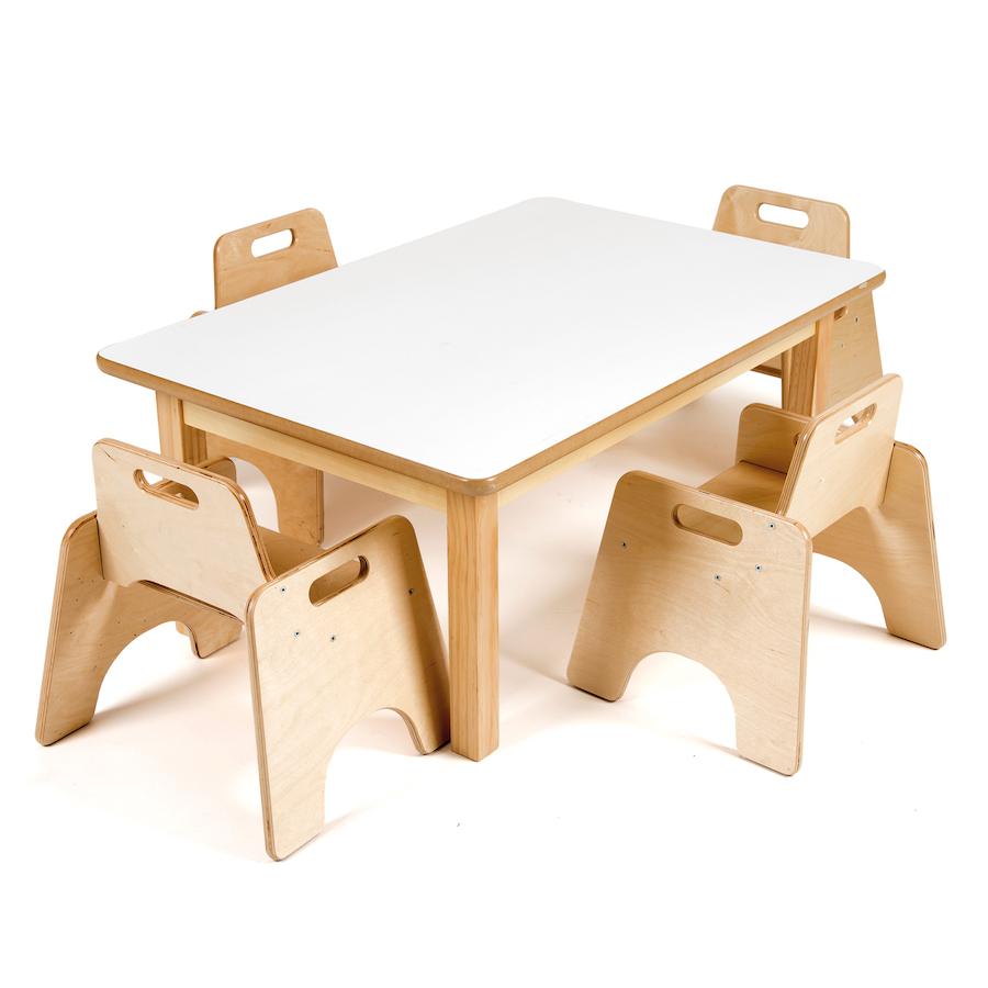 rectangular toddler low table h380mm