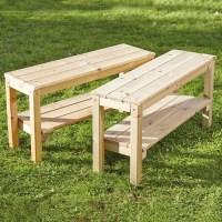 Buy Small Outdoor Wooden Bench | TTS